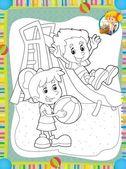 La página con ejercicios para niños - ilustración para los niños — Foto de Stock