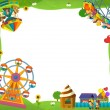 The funfair frame - Stock Photo