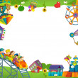 Stock Photo: Funfair - playground - framing for misc usage