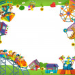 The funfair - playground - the framing for misc usage — Stockfoto