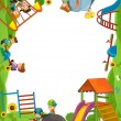 The funfair - playground - the framing for misc usage - Stock Photo