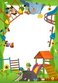 The funfair - playground - the framing for misc usage — Stock Photo
