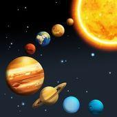 Sistema solare - via lattea — Foto Stock