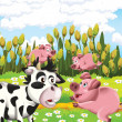 The life on the farm - illustration for the children — Stock Photo #22168165