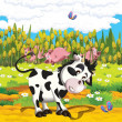 The life on the farm - illustration for the children — Stock Photo #22168177