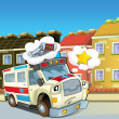 The emergency unit - the ambulance - Stock Photo