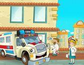 The emergency unit - the ambulance — Stock Photo
