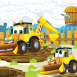 The cartoon digger - illustration for the children — Stockfoto