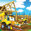 The cartoon digger - illustration for the children - Stockfoto