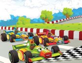 The formula race - super car - illustration for the children — Stok fotoğraf