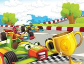 The formula race - super car - illustration for the children — Stock Photo