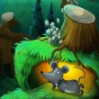 The painting of a forest animal - illustration for the children — Stock Photo #23014298