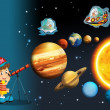 Foto Stock: Cartoon - astrology - illustration for children