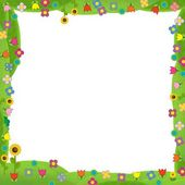 The meadow frame - the framing for misc usage - illustration for the children — Stock Photo