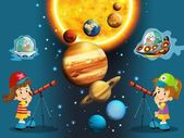 The cartoon - astrology - illustration for the children — Stock Photo