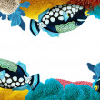 The coral reef - frame - border - illustration for the children - Stockfoto