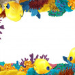 The coral reef - frame - border - illustration for the children — Stock Photo