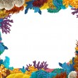 The coral reef - frame - border - illustration for the children — Foto de Stock