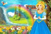 The fairy - Beautiful Manga Girl - illustration — Stock Photo