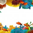 The coral reef - frame - illustration for the children - Stock Photo