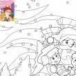 The coloring book with preview - illustration for the children — Stock Photo