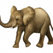 Royalty-Free Stock Photo: Happy little elephant illustration