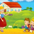 Going to school - illustration for the children — Stock Photo #25098953