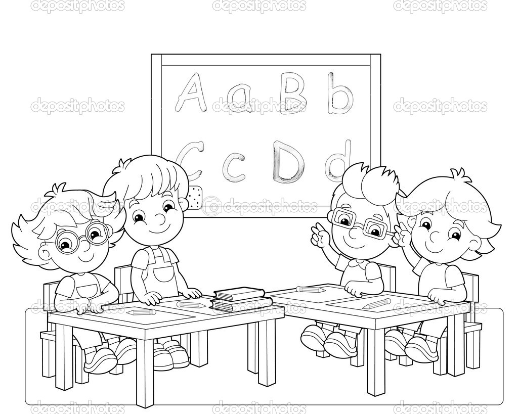 classroom coloring pages - photo#3