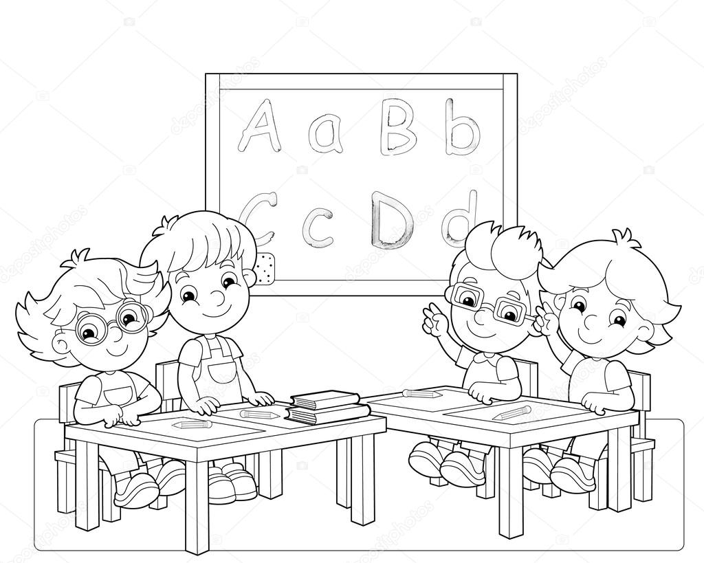 classroom coloring pages - photo#12