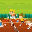Summer sports  - illustration for the children — Stock Photo