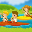 Summer sports  - illustration for the children - Stock Photo
