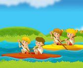 Summer sports - illustration for the children — Stock Photo