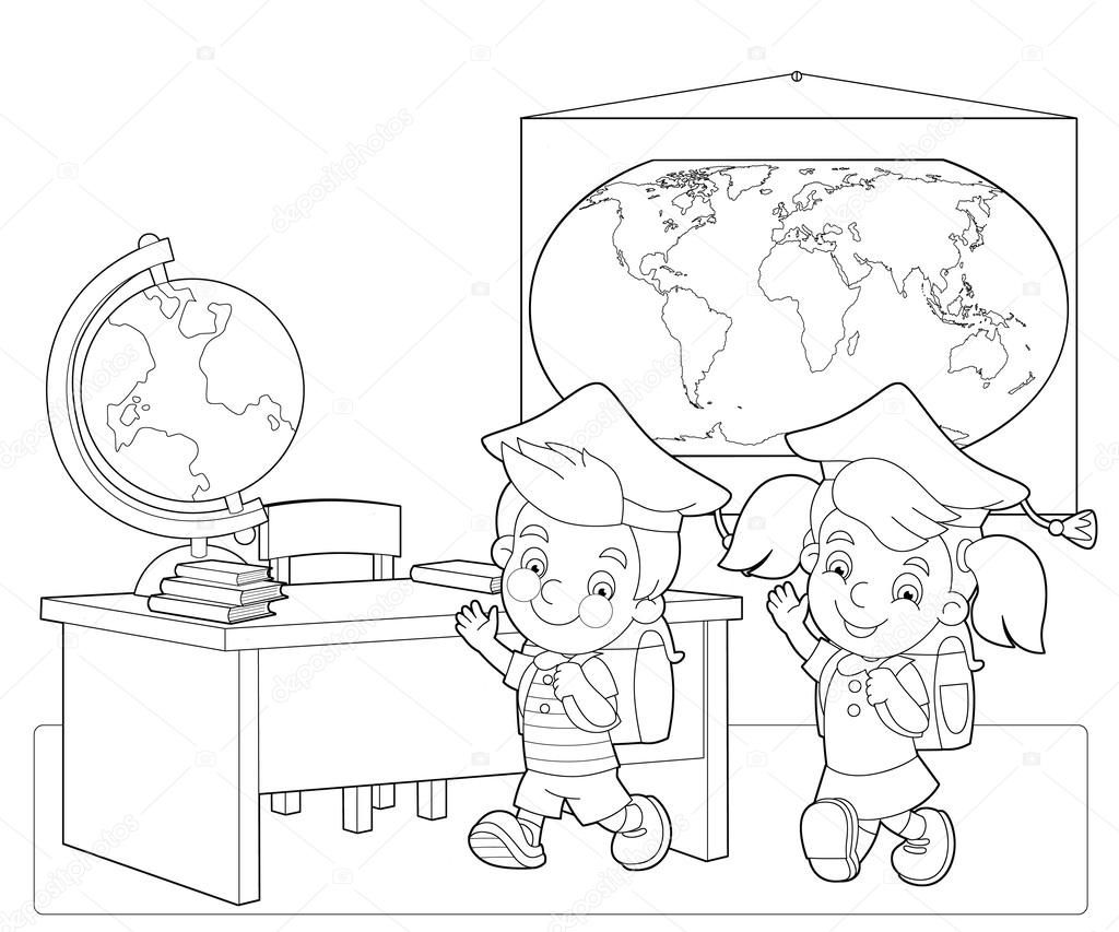 Classroom class colouring pages sketch coloring page for Classroom coloring page