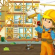 Stock Photo: On construction site - illustration for children