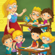Stock Photo: The school - education - illustration for the children