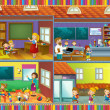 The cut through illustration - home - illustration for the children — Stock Photo