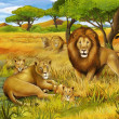Safari - illustration for children — Stock Photo #27095839