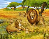 The safari - illustration for the children — Stock Photo