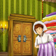 Princess and the Pea - The princesses castles - knights and fairies - Beautiful Manga Girl - illustration for the children — Stock Photo