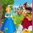 Stock Photo: Princesses - Cinderell- castles - knights and fairies - Beautiful MangGirl - illustration for children