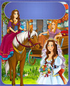 The goose girl - Prince or princess - castles - knights and fairies - illustration for the children — Stock Photo