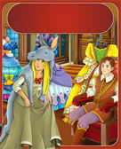 The donkey skin - Prince or princess - castles - knights and fairies - illustration for the children — Stock Photo
