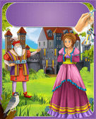 Bluebeard - greybeard - Prince or princess - castles - knights and fairies - illustration for the children — Stock Photo