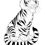 Tiger - illustration for the children — Stock Photo