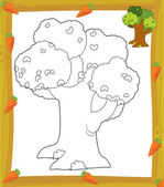 The coloring plate - tree — Stock Photo
