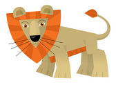 Cartoon lion — Stock Photo