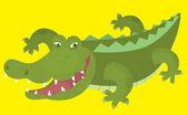 Cartoon crocodile — Stock Photo