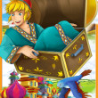 "Stock Photo: Fairy-tale characters - ""Aladdin."" - illustration for children"