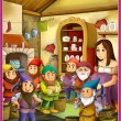 Stock Photo: Fairy-tale characters - Snow White and Seven Dwarfs