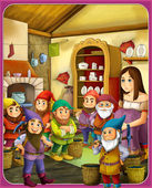 Fairy-tale characters - Snow White and the Seven Dwarfs — Stock Photo